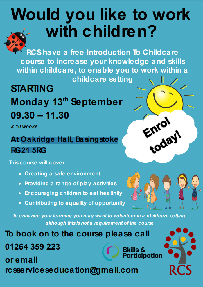 Introduction To childcare - Basingstoke