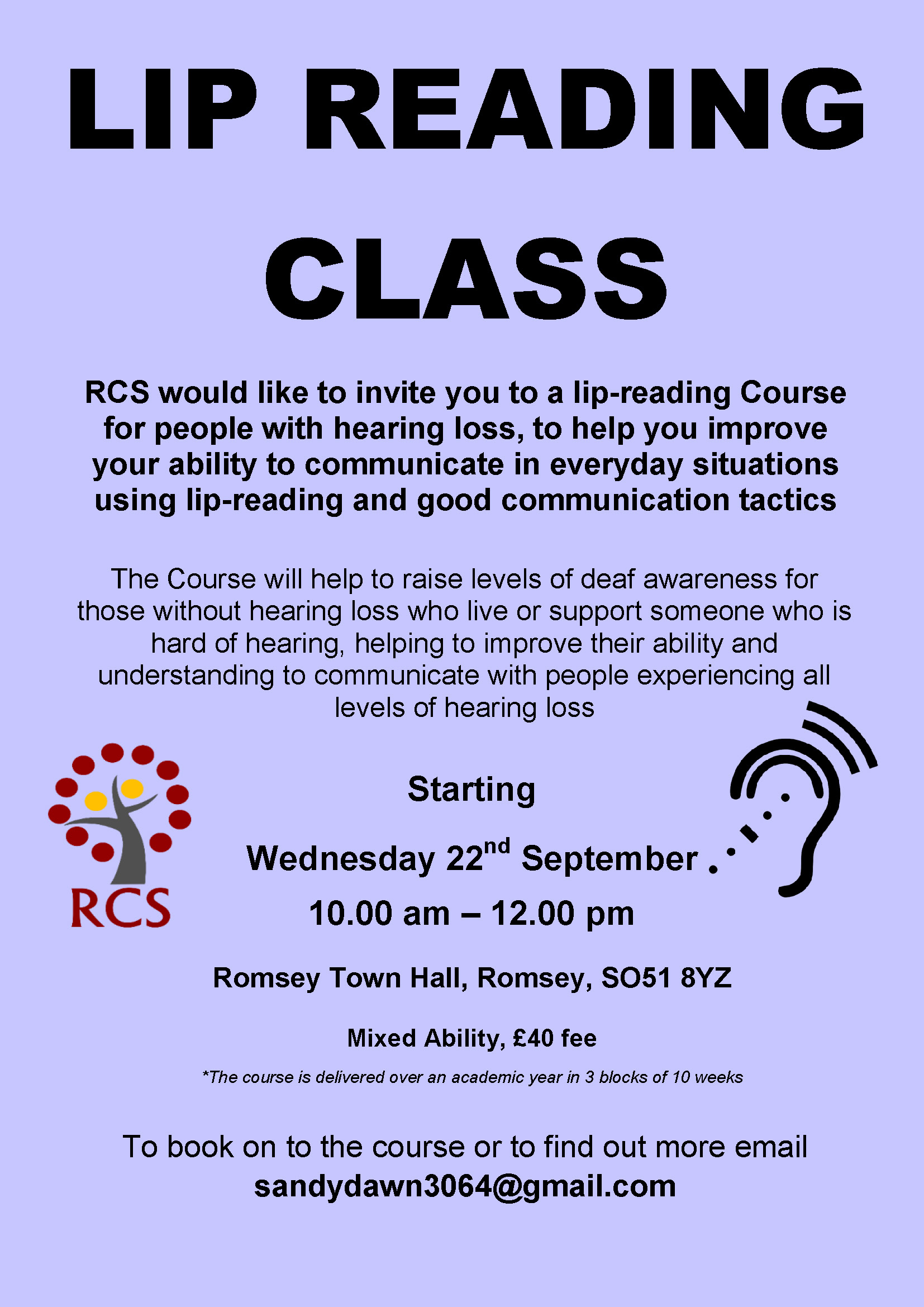 Lip Reading Class - Romsey